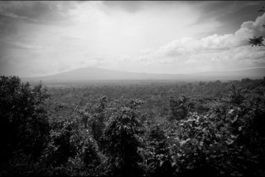 View of the Virunga National Park from the the ranger headquarter in Rumangabo, Democratic Republic of Congo. (Jan-Joseph Stok/GlobalPost)