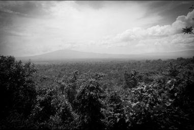 View of the Virunga National Park from the the ranger headquarter in Rumangabo, Democratic Republic of Congo. (Jan-Joseph Stok/GlobalPost)