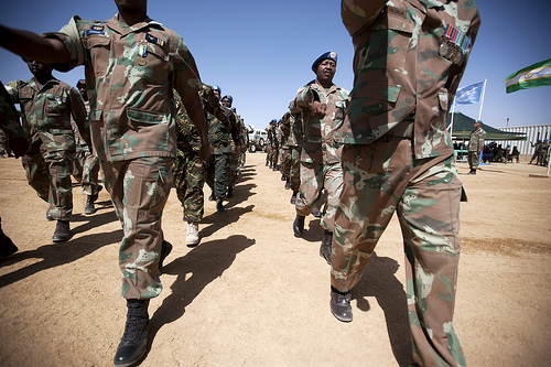 Medal Parade for UNAMID's South African Contingent