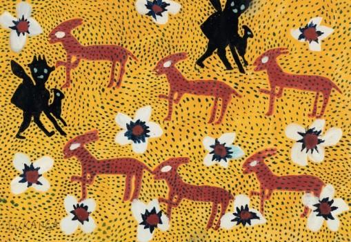 Lukanga, 'Untitled,' c. 1950. Oil on paper. LUKANGA / PHOTO: ANDRÉ MORIN J.P.