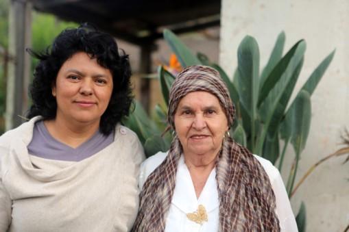 Berta Caceres stands her mother Doña Berta in their home in La Esperanza, Intibucá, Honduras.