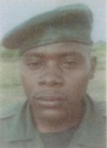 Photo of Ranger Venant during ranger training in Ishango