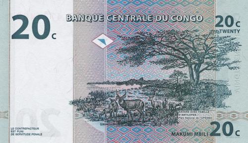 CONGO-20-Centimes-01-11-1997-Face-B