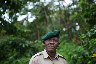 Augustin Kambale is one of the park's senior rangers. Photograph: James Oatway for the Guardian