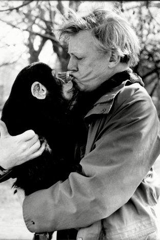 david-attenborough-with-a-chimpanzee1987