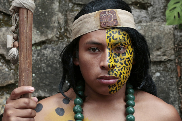 """A portrait of a member of the Indigenous community in """"Copán Ruinas"""", Archaeological Site (UNESCO World Heritage Site), during Secretary-General Ban Ki-moon's visit to Honduras. UN Photo/Evan Schneider 15 January 2015 Copán Ruinas, Honduras Photo # 619577"""