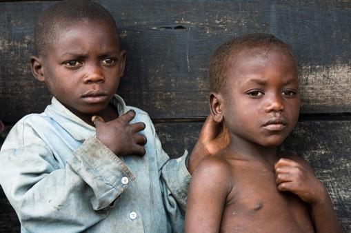Children Displaced by Conflict, DRC Children displaced by conflict at Camp Buhimba in North Kivu, Democratic Republic of the Congo (DRC). Photo ID 185397. 16/02/2008. North Kivu, DRC. UN Photo/Marie Frechon. www.unmultimedia.org/photo/
