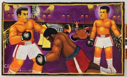 "Moke, ""Untitled (Match Ali-Foreman, Kinshasa)"" (1974).Credit André Morin"