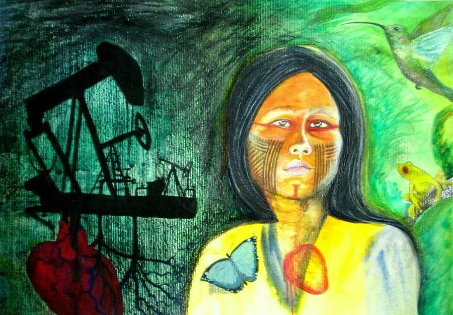 Ecocide is a painting by Carlita Shaw